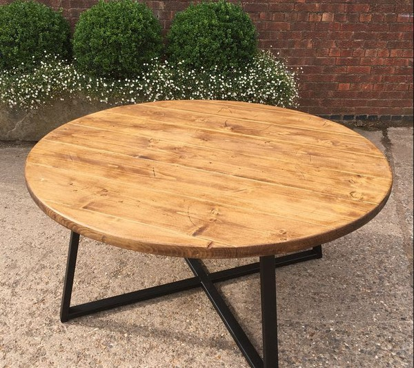 New Industrial Style Round Table