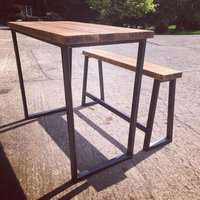 Poseur Table With Trapezium Legs