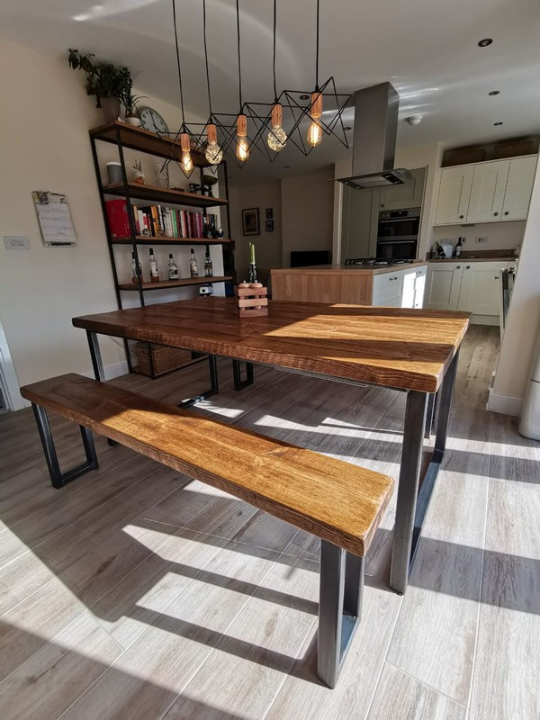 New 4 Seater Bench Dining Table