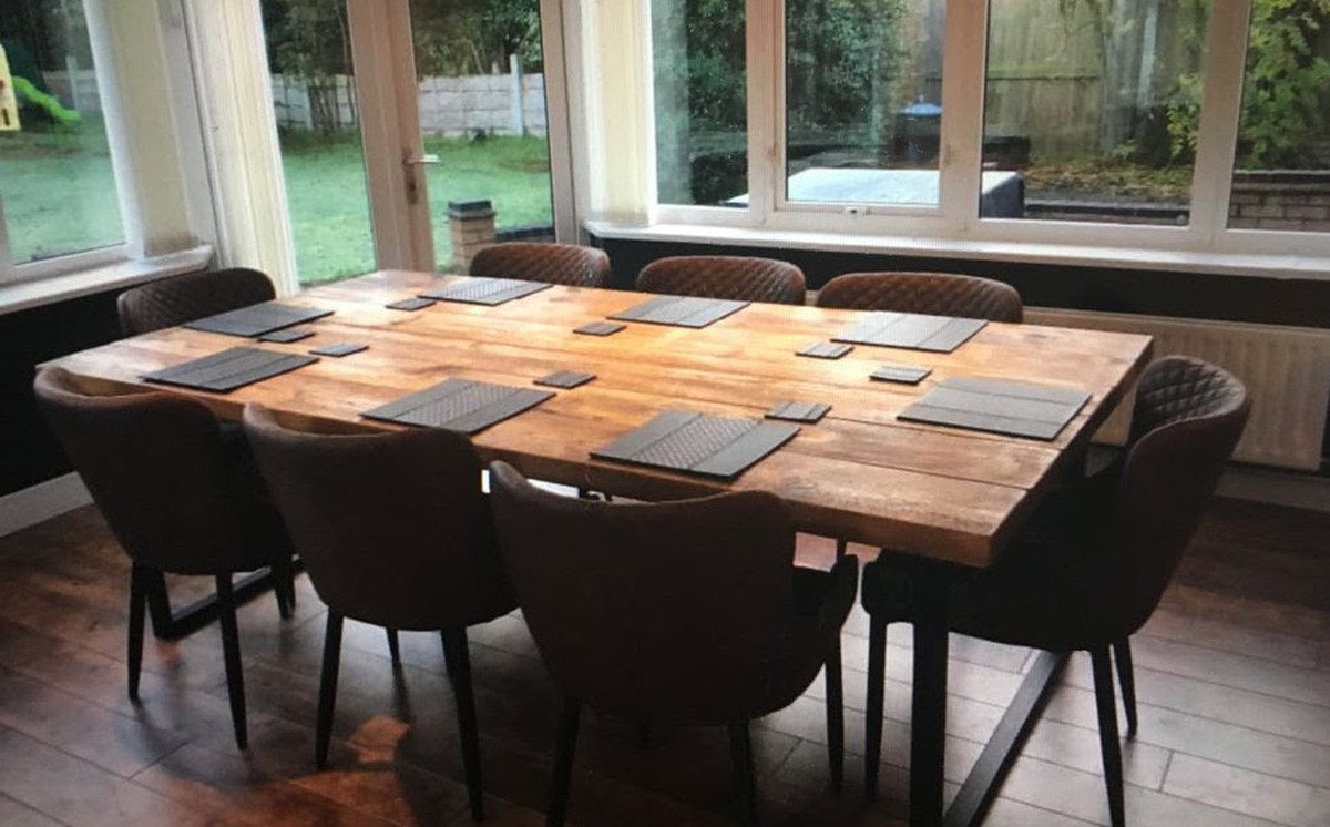Secondhand Hotel Furniture Dining Tables New Industrial Reclaimed Style 6 8 Seater Dining Table North Warwickshire
