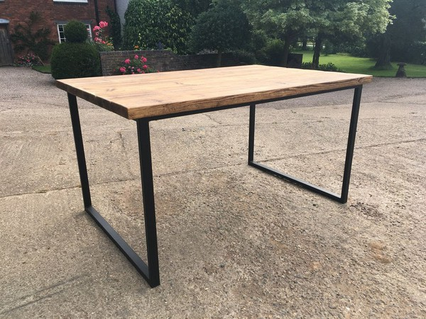 Hand Crafted Large Industrial Style Table