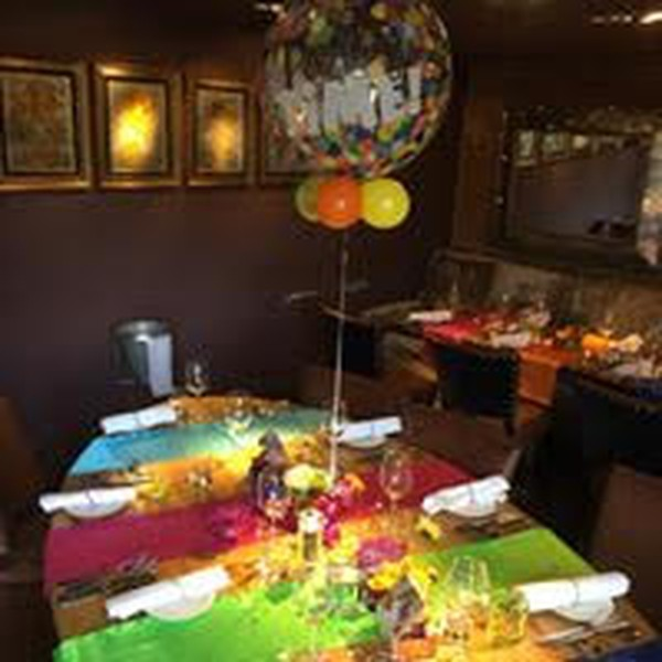Colourful table settings