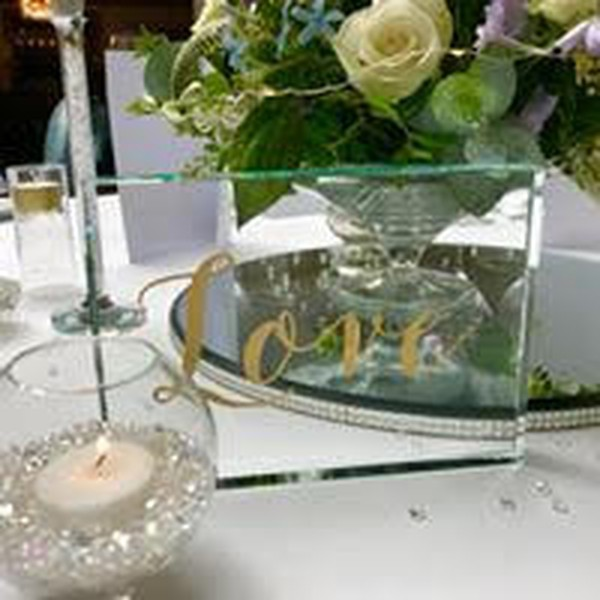 Gold fish bowl table decor
