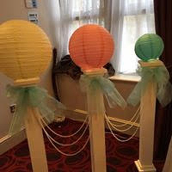 Paper lanterns event decor