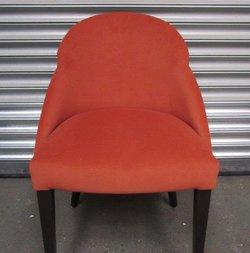 4 Terracotta Fabric Tub Chairs (CODE ALCH720)