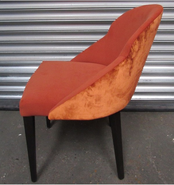 Terracotta Fabric Tub Chairs for sale