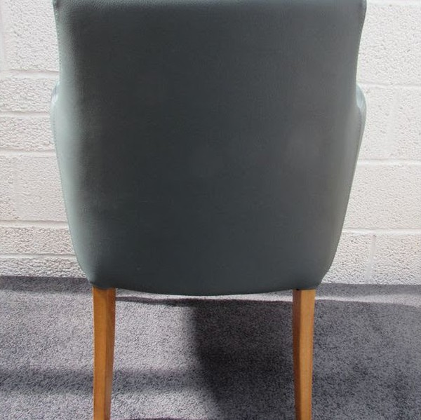 Brand New Faux Leather Grey Desk Chair with Arms