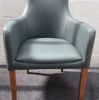 Faux Leather Grey Desk Chair with Arms (CODE CH289)