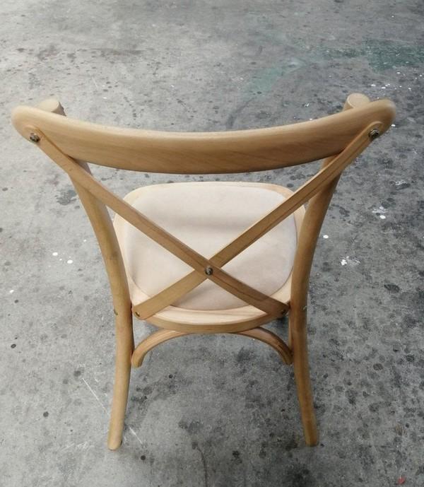 OAK Cross Back Banquet Chairs
