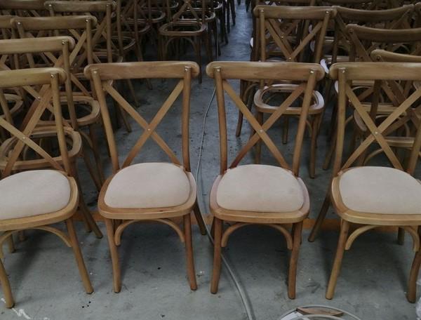 Selling OAK Cross Back Chairs