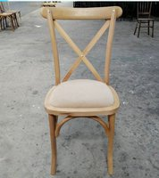 Brand New Rustic OAK Cross Back Chairs with Removable Pad
