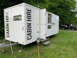 Festival office trailer