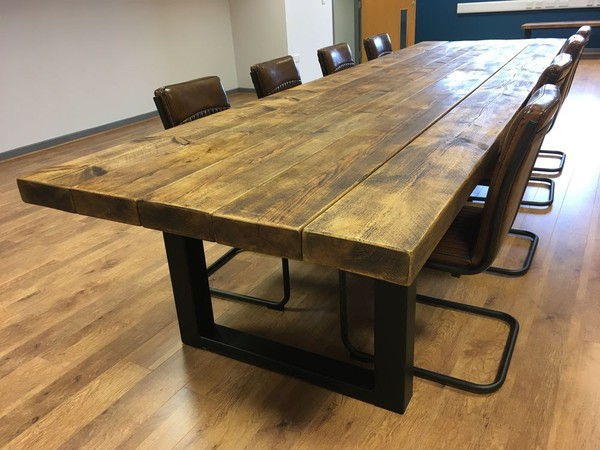 Industrial Style Extra Large Meeting Room Table