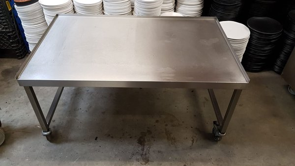 Low machine table  Stainless steel  122wide x75deep x62height  £110