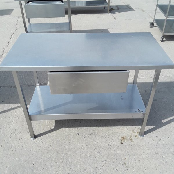 1.2m stainless steel table with draw for sale