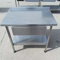 Prep table with stainless steel draw