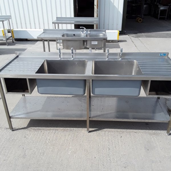 Used deep double sink with double drainer