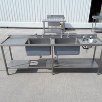 Deep double sink and hand wash sink