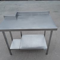 Stainless steel table with rebate