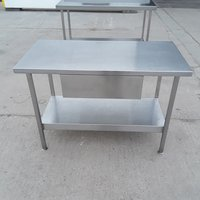 1.2m stainless steel table with draw
