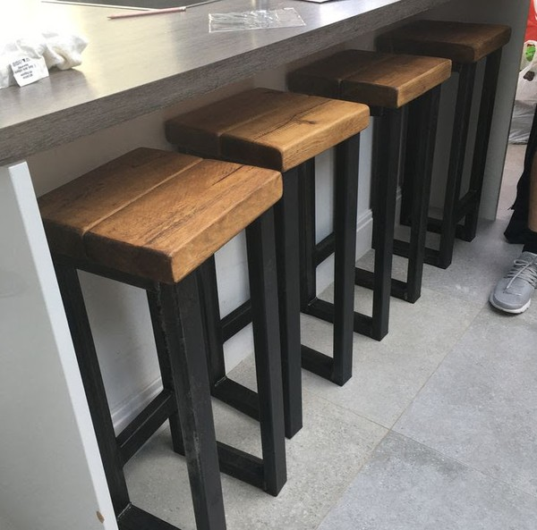 Bespoke Industrial Style Handmade Stools