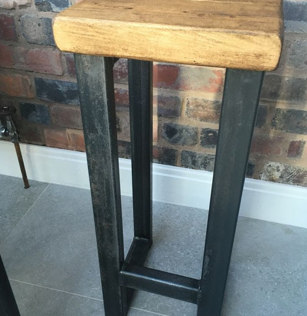 Unique Industrial Style Handmade Stools