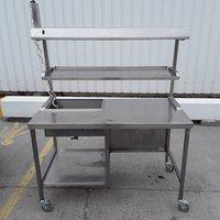 Used Heated Gantry Hot Lights Table(9343)