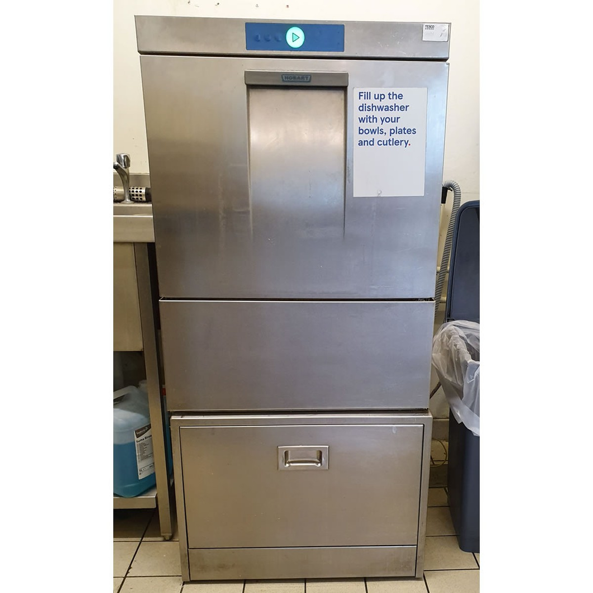 Used Hobart Dishwasher with Storage Stand (Product Code: CF1419) -  Peterborough, Cambridgeshire