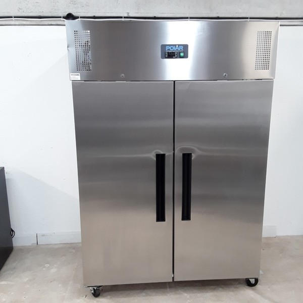 New B Grade Polar G595 Stainless Double Upright Freezer(W9370)