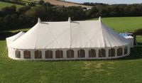 Traditional Marquee with round ends in Canvas