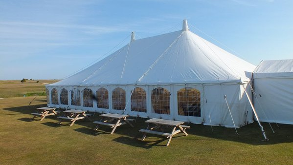 White canvas marquee for sale