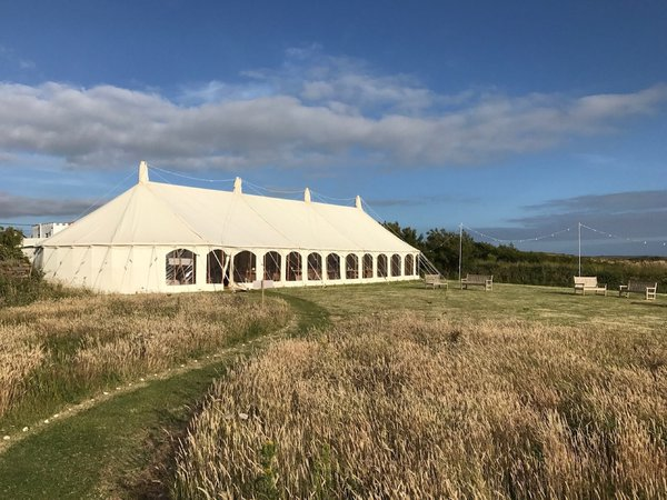 30' x 90' Oval Traditional Marquee