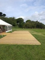 Wooden Decking - for marquee weddings