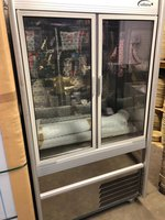 C100 GEM  Williams - Double Sliding Door Display Fridge