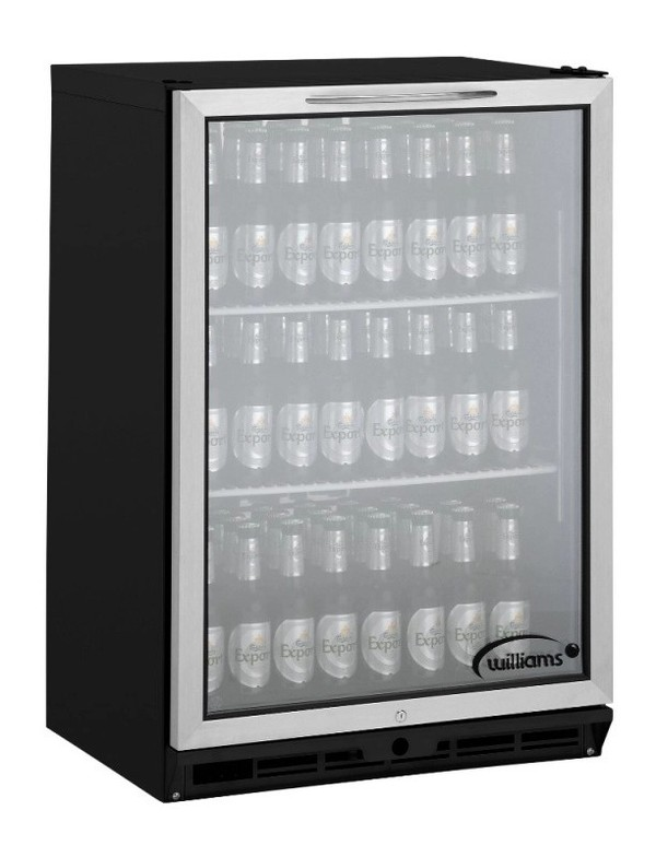 BC1BS R1 Williams Black Undercounter Bottle Cooler