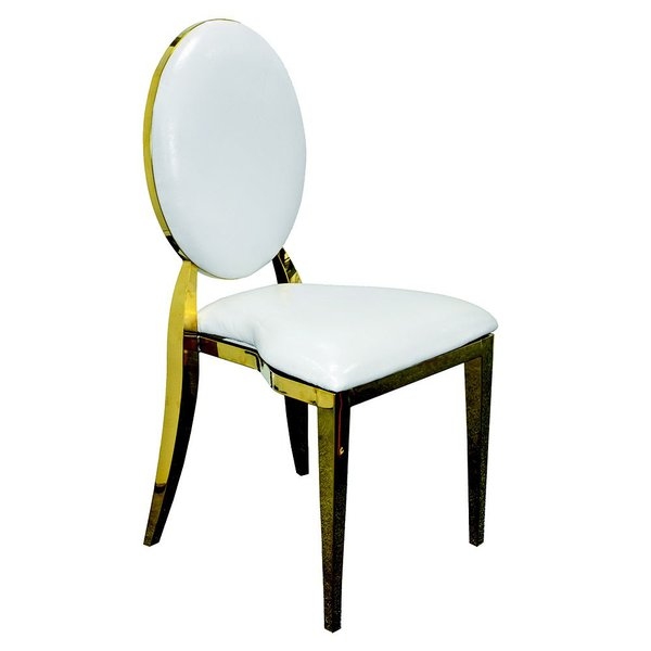 Dior Chairs - gold and white