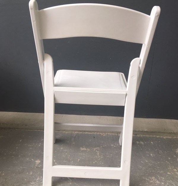 White Resin Fold Flat Event Chairs