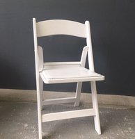 White Resin Fold Flat Chairs
