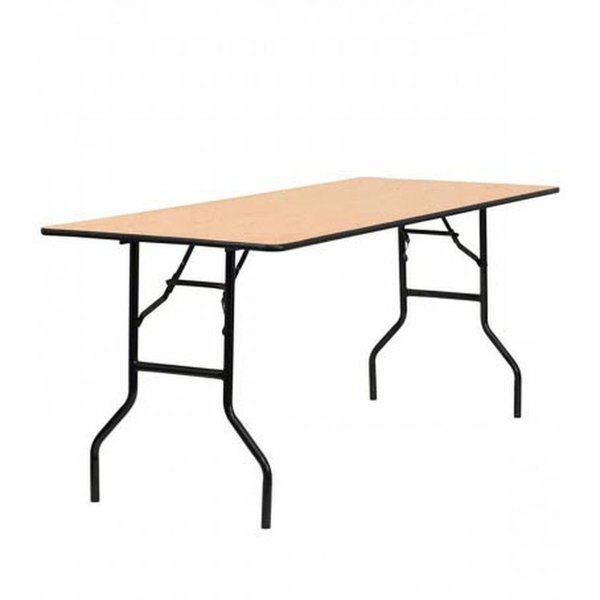6Ft x 2Ft 6 Inch Trestle table for sale
