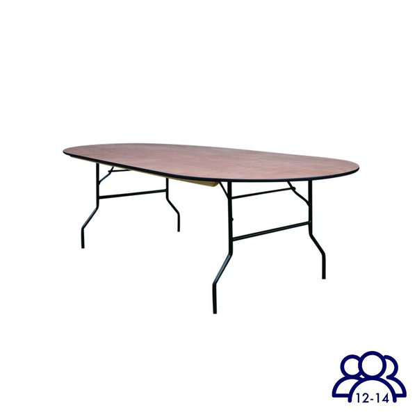 8' x 4' Oval table for sale