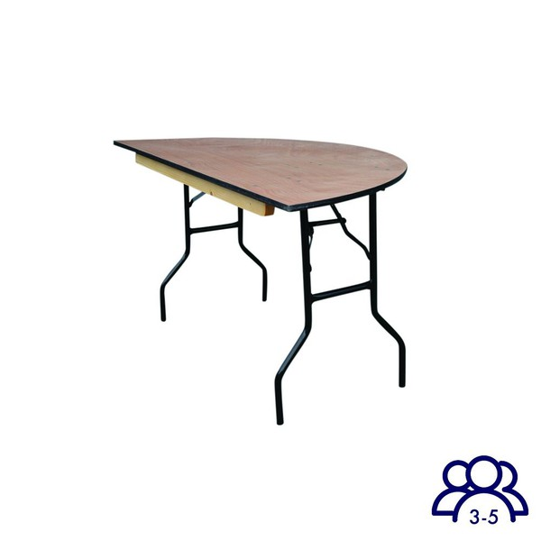 5Ft Half Round Table for sale