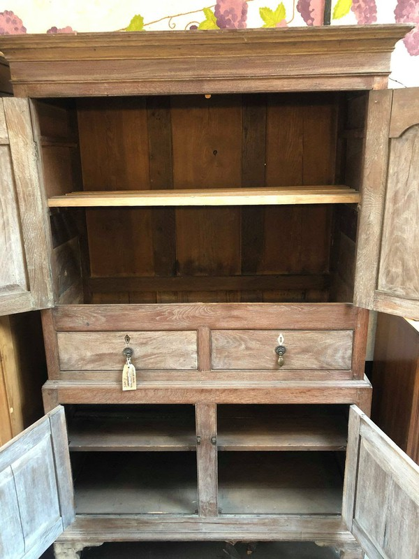 Solid Oak 19th Century French housekeepers cupboard