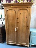 Late Victorian Pine Wardrobe