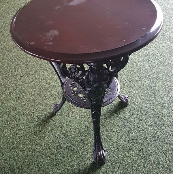 Vintage Britania Cast Iron Bar Tables