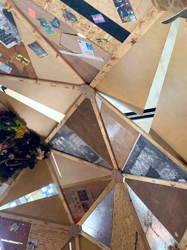 Recycled Geodesic dome