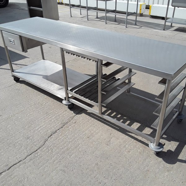 Used Stainless Steel Table (9451)