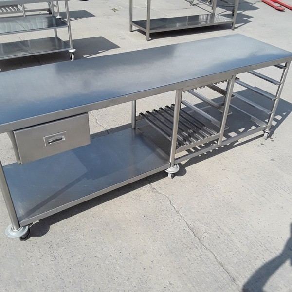 Used Stainless Steel Table (9453)