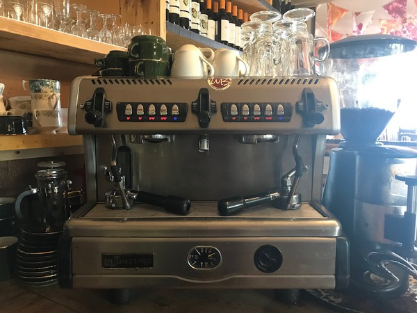 La Spaziale Espresso machine and Coffee Bean Grinder