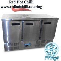 3 door prep fridge