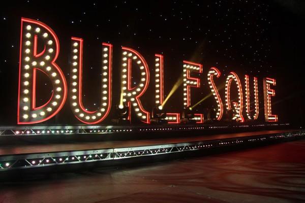 Light up Burlesque sign